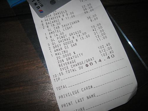 Bar tabs