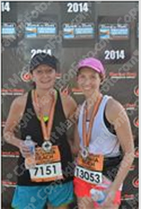 Miranda and I (right) at the finish line